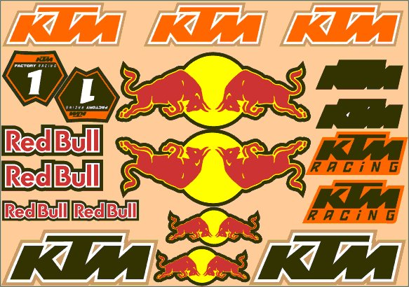 Nálepky moto KTM RedBull