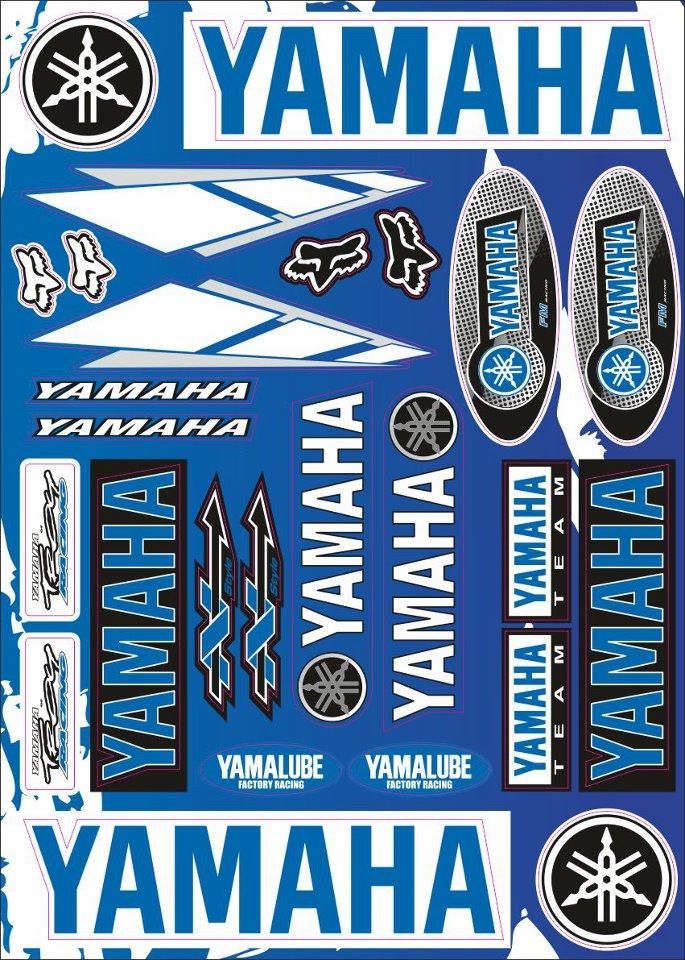 Nálepky moto Yamaha 3