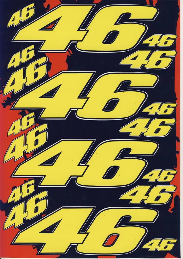 Nálepky moto 46