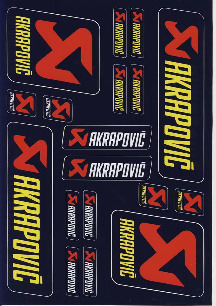 Nálepky moto Akrapovič