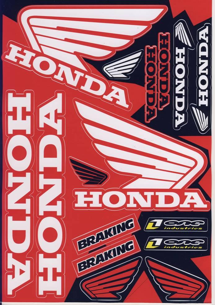Nálepky moto Honda 1