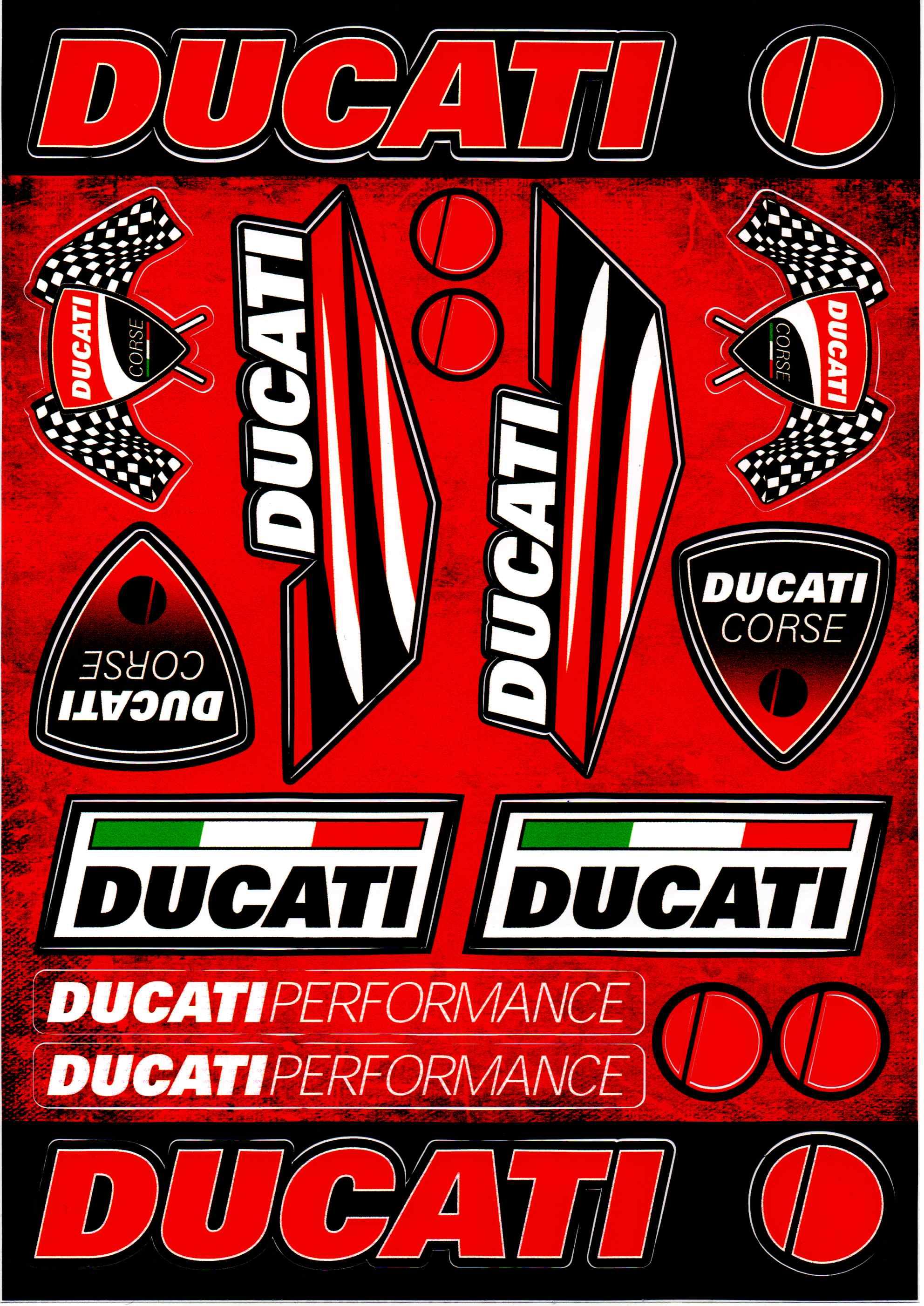 Nálepky moto Ducati 1