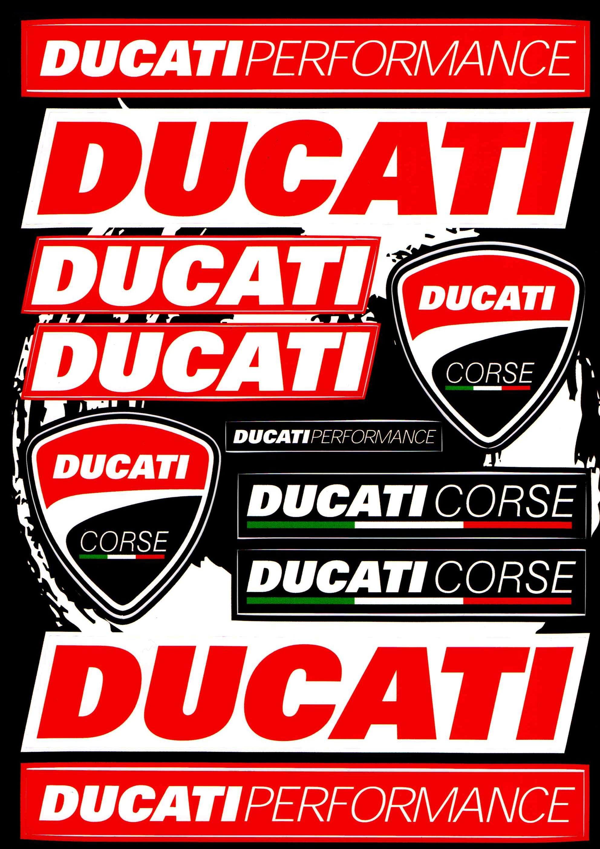 Nálepky moto Ducati 2