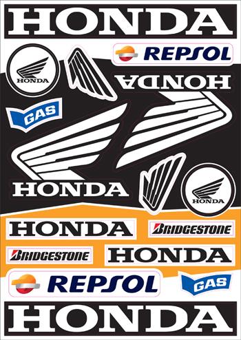 Nálepky moto Honda 4